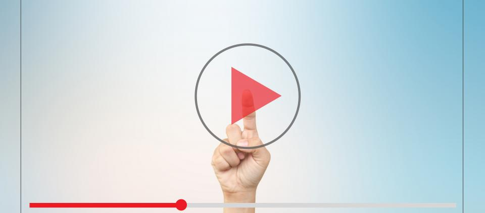 Hand Clicking Video Play Button